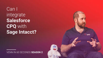 Can I integrate Salesforce CPQ with Sage Intacct?