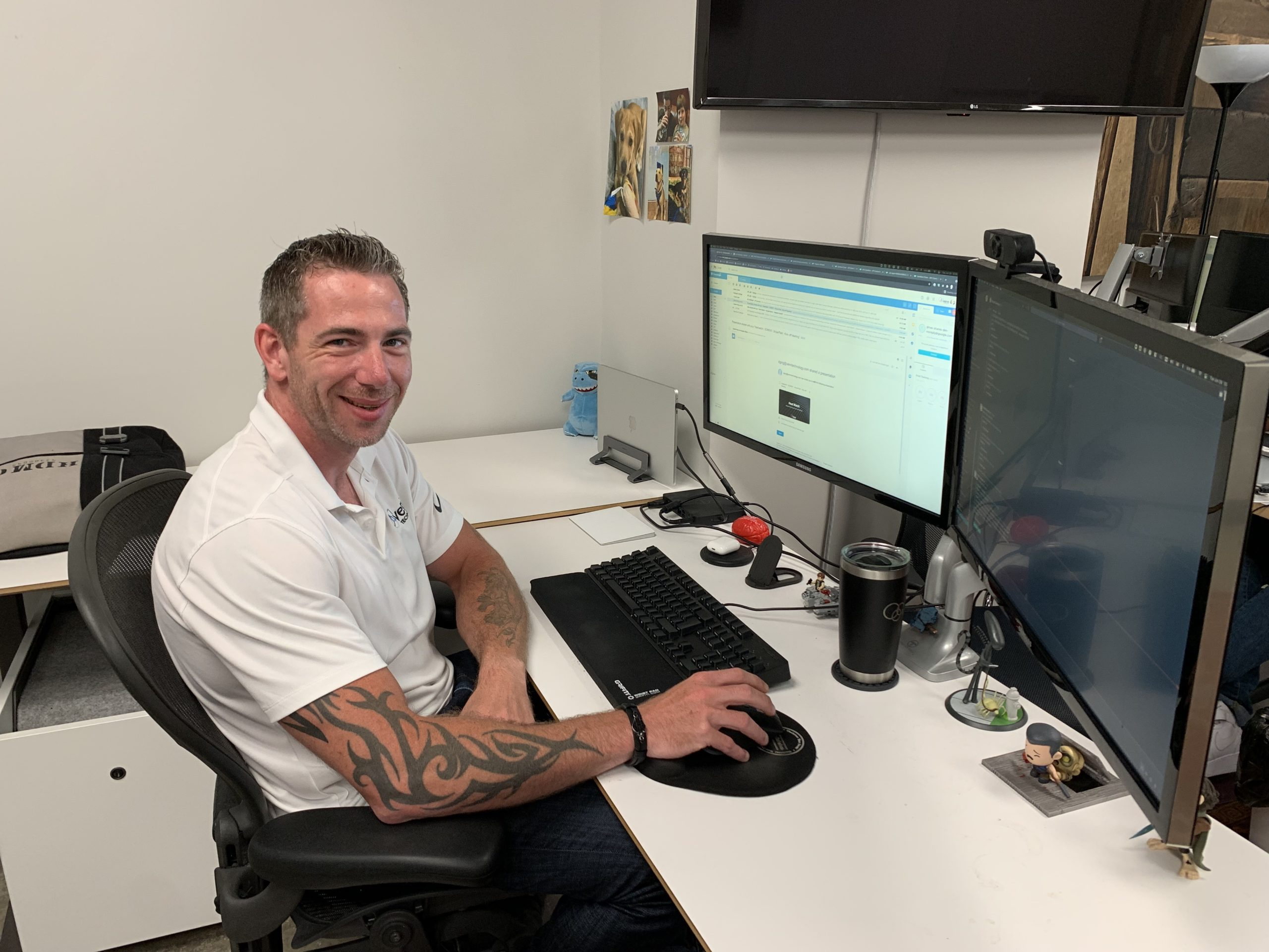 Steve Micklewright Venn Integration Consultant sitting at his workspace